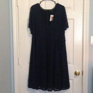 NEW TORRID Navy Lace Dress Plus Size 24